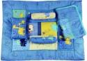 Advance Baby Animal Print Mattress Set - Dark Blue