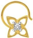 Cygnus Classic Yellow Gold Nose Ring - NRSDR8FKNFSBGN4D