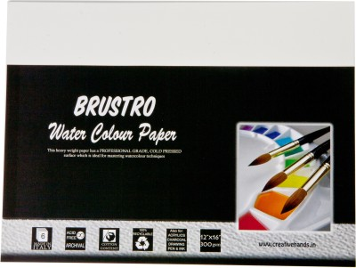 Buy Brustro Watercolor Paper 300 gsm Pack (12