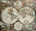 Vintage World Map - 01 Paper Print - Medium, Rolled