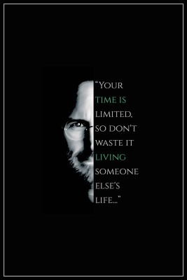 Buy Steve Jobs - Your Time is Limited Paper Print: Poster