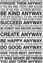 Mother Teresa - Forgive Them Anyway Paper Print - Small, Rolled