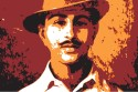 Bhagat Singh - Red Paper Print - Small, Rolled