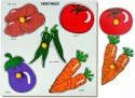 Little Genius Vegetables Double Layer Tray With Knob - Large - 5 Pieces