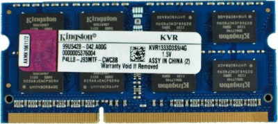 Buy Kingston ValueRAM DDR3 4 GB Laptop RAM (KVR1333D3S9/4G): RAM