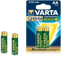 Varta Professional Accu AA Size Ni-MH 2700 MAh (2 Pcs) Rechargeable Battery