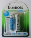 Uniross 2500 MAh Ni-Mh AA Rechargeable Battery