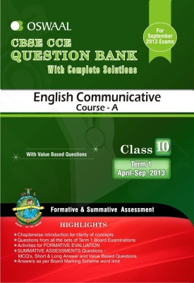 Buy Oswaal CBSE CCE Question Bank For Class 10 Term I (April To September 2013) English Communicative: Regionalbooks