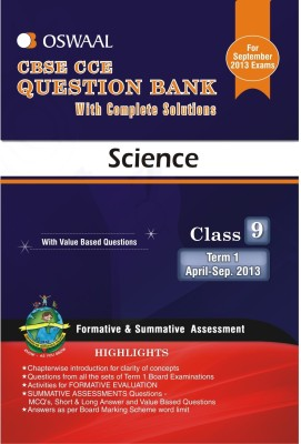 Buy Oswaal CBSE CCE Question Bank For Class 9 Term I (April To September 2013) Science: Regionalbooks