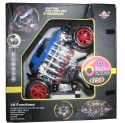 AdraxX Multi Functions Exciting Stunt Car Model Cum Robot Toy Gift For Boys 6-12 Years - Blue