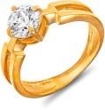 Mahi Bold Vogue Solitaire Brass, Alloy Zircon Ring
