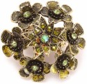 Khoobsurati Stone Studded Metallic Metal, Crystal Ring