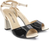 DONE BY NONE Sun Always Shines On Me Block Heels: Sandal
