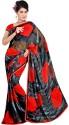Fabdeal Kosa Floral Print Georgette Sari - SARDSYAKC7BYWXMK