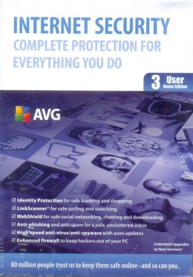 Buy AVG Internet Security 2012 3 PC 1 Year: Security Software