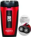 Agaro Two Head Rotary DS 581 Shaver For Men - Black & Red