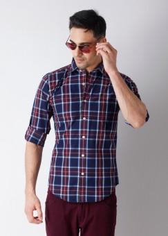 Compare Monteil & Munero Men Checkered Casual Shirt: Shirt at Compare Hatke