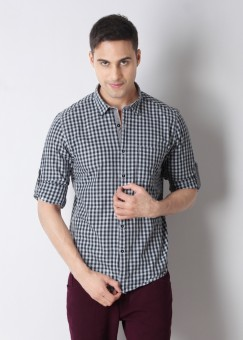 Compare Turtle Men Checkered Casual Shirt: Shirt at Compare Hatke