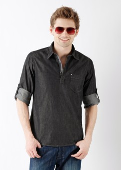 Compare Lawman Men Solid Casual Shirt: Shirt at Compare Hatke