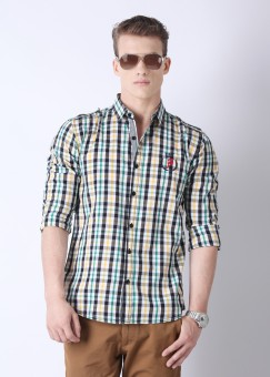 Compare Barrel Men Checkered Casual Shirt: Shirt at Compare Hatke