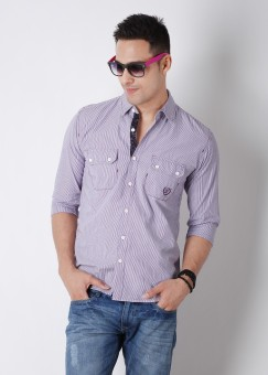 Compare Barrel Men Striped Casual Shirt: Shirt at Compare Hatke