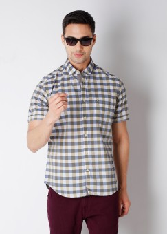 Compare Indian Terrain Men Checkered Casual Shirt: Shirt at Compare Hatke