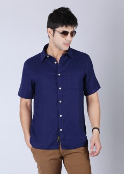 Burnt Umber Men's Solid Casual Shirt: Shirt