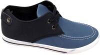 StyleToss Blue and Black Chukka Boots: Shoe