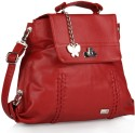 Butterflies Flap Lock Sling Bag - Red
