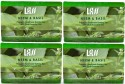 Lass Naturals Neem And Basil Soap Combo (Pack Of 4) - 125 G