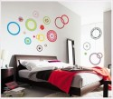 WOW Wall Sticker Colorful Circle Wall PVC Removable Sticker