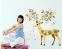 WOW Wall Sticker Colorful Dear Wall PVC Removable Sticker