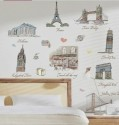 WOW Wall Sticker World 10 Wonders Wall PVC Removable Sticker