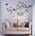 WOW Wall Sticker Rose Flower Tree Wall Stickers PVC Removable Sticker
