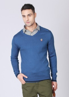 Pepe Solid V-neck Casual Men's Sweater
