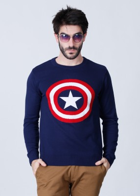 Free Authority Solid Round Neck Casual Men's Sweater