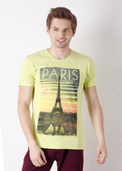 Compare United Colors of Benetton Round Neck Printed Men T-shirt: T-Shirt at Compare Hatke