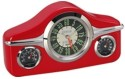 GoGifts Vintage Dashboard Analog Clock - Red
