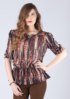 Compare Cherokee Printed Women Top: Top at Compare Hatke