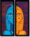 Mad(e) In India Ardhanari Nateshwar Wall Frame - Set Of 2 Frames - Multicolor