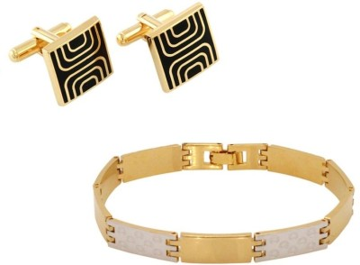 Vendee Fashion Brass Bracelet with Cufflinks @764 – mrp 1999