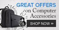 Buy Computer Accessories worth Rs 1000 get 5% off, worth Rs 3000 get 10% off