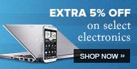 Get additional 5% Off on all Electronic Products