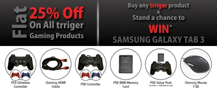 FLAT 25% OFF ON ALL TRRIGER GAMING PRODUCTS @ FLIPKART